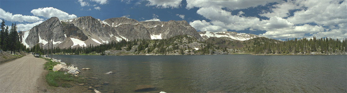Long Panorama of the Snowies